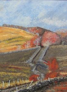 Paysage d'Aubrac peinture tableau